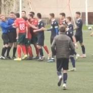"Игрок ""Сперанцы"" Дрокия Александр Мардарий ударил кулаком в лицо арбитра (видео)"