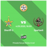 Sheriff-2 - Spartanii 0:0 (rezumat video)